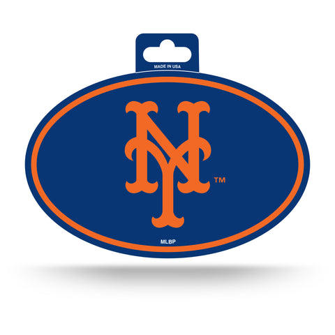 New York Mets Oval Decal Full Color Sticker NEW!! 3 x 5 Inches Free Shipping
