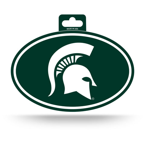 Michigan State Spartans Oval Decal Full Color Sticker NEW!! 3 x 5 Inches Free Shipping