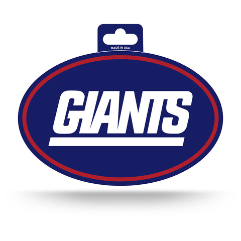 New York Giants Oval Decal Full Color Sticker NEW!! 3 x 5 Inches Free Shipping