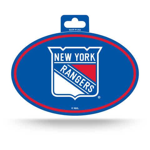 New York Rangers Oval Decal Full Color Sticker NEW!! 3 x 5 Inches Free Shipping