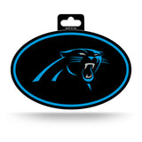 Carolina Panthers Oval Decal Full Color Sticker NEW!! 3 x 5 Inches Free Shipping