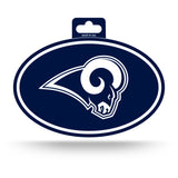 Los Angeles Rams Oval Decal Full Color Sticker NEW!! 3 x 5 Inches Free Shipping