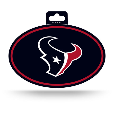 Houston Texans Oval Decal Full Color Sticker NEW!! 3 x 5 Inches Free Shipping