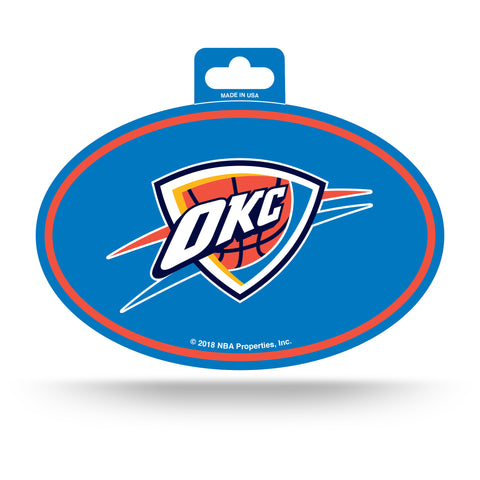 Oklahoma City Thunder Oval Decal Full Color Sticker NEW!! 3 x 5 Inches Free Shipping