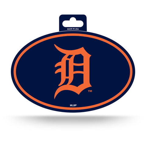 Detroit Tigers Oval Decal Full Color Sticker NEW!! 3 x 5 Inches Free Shipping