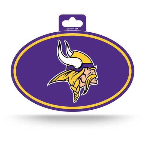 Minnesota Vikings Oval Decal Full Color Sticker NEW!! 3 x 5 Inches Free Shipping