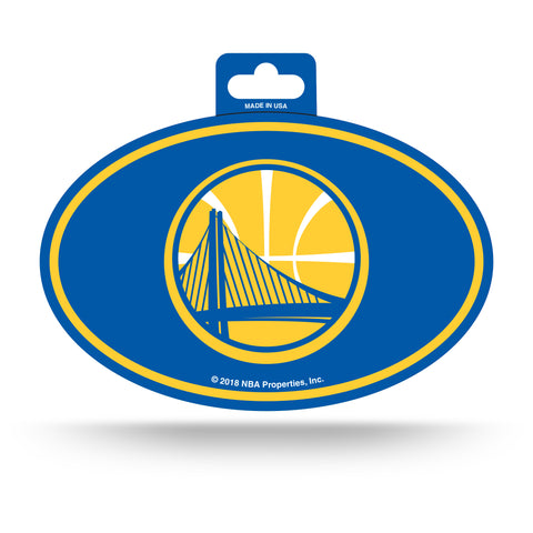 Golden State Warriors Oval Decal Full Color Sticker NEW!! 3 x 5 Inches Free Shipping