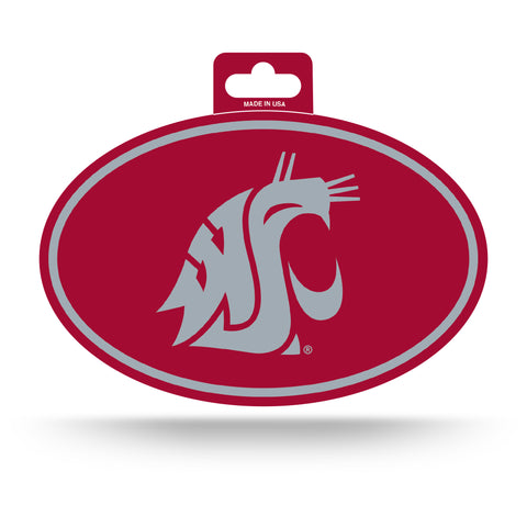 Washington State Cougars Oval Decal Full Color Sticker NEW!! 3 x 5 Inches Free Shipping