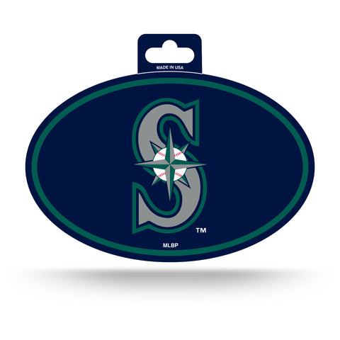 Seattle Mariners Oval Decal Full Color Sticker NEW!! 3 x 5 Inches Free Shipping