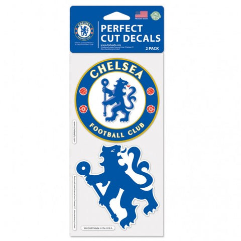 Chelsea FC Set of 2 Die Cut Decal Stickers Perfect Cut Free Shipping