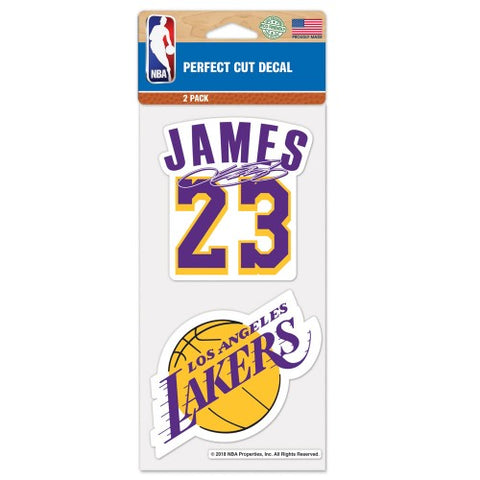Lebron James Set of 2 Die Cut Decal Stickers Perfect Cut Free Shipping Lakers