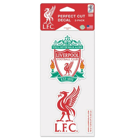 Liverpool FC Set of 2 Die Cut Decal Stickers Perfect Cut Free Shipping