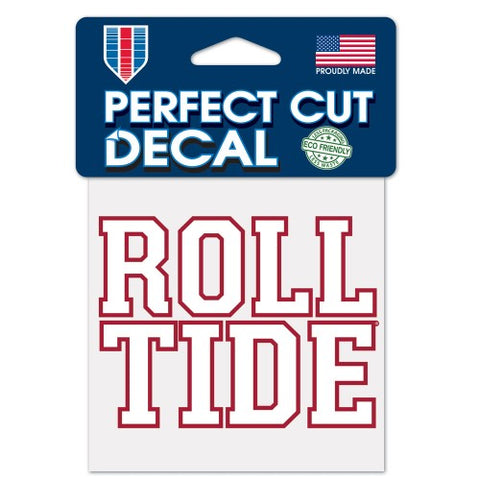 Alabama Crimson Tide ROLL TIDE Die Cut Decal Stickers Perfect Cut 3x3 inches