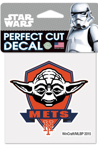 New York Mets Star Wars Yoda Perfect Cut Die Cut Decal Sticker 3x3 Inches