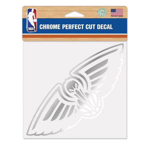 New Orleans Pelicans Chrome Die Cut Decal Sticker Perfect Cut 7x3 inches Zion Williamson