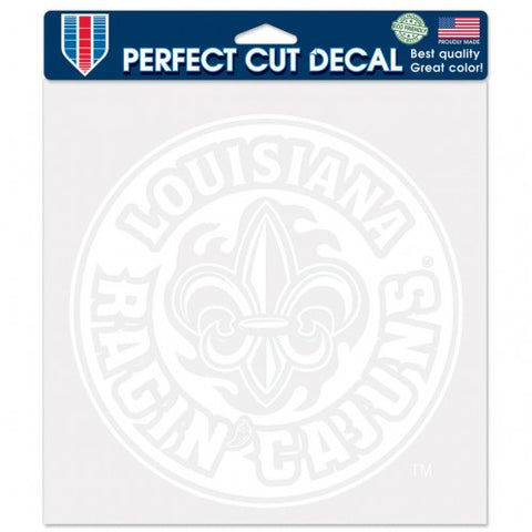 Louisiana Ragin Cajuns White Die Cut Decal Stickers Perfect Cut 7x7 inches