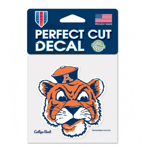 Auburn Tigers Retro Logo Die Cut Decal Stickers Perfect Cut 3x3 inches