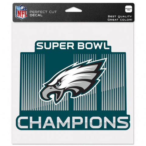 Philadelphia Eagles Super Bowl 52 Champions Die Cut Decal NEW!! 7 X 6 Window or Car!!! Laptop