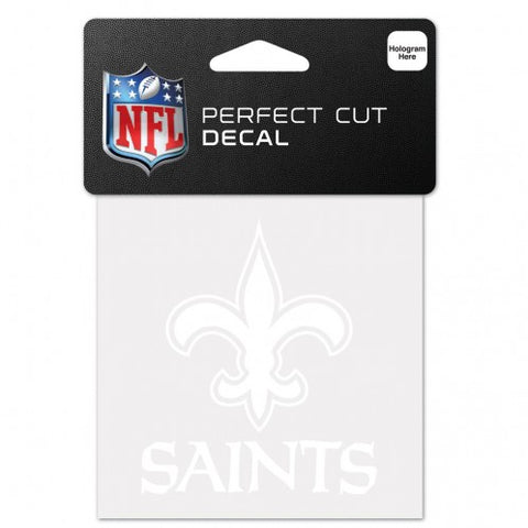 New Orleans Saints White Die Cut Decal Sticker 3x3 Perfect Cut Free Shipping