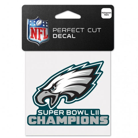 Philadelphia Eagles Super Bowl 52 Champions Die Cut Decal NEW!! 3 X 3 Window or Car!!! Laptop
