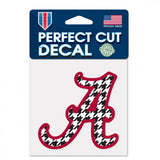 "Alabama Crimson Tide Houndstooth 3"" x 3"" Perfect Cut Decal Window, Car or Laptop!"