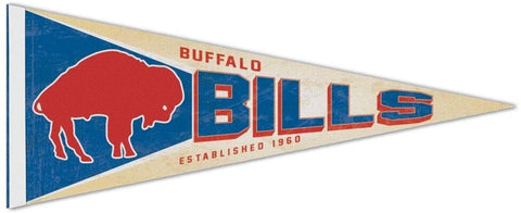 Buffalo Bills Retro Premium Pennant Felt Wool NEW!! Free Shipping 12x30 Inches