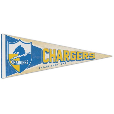 Los Angeles Chargers Retro Logo Premium Pennant Felt Wool NEW Free Ship 12x30 Inches