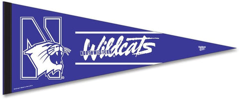 Nothwestern Wildcats Premium Pennant Felt Wool NEW!! Free Shipping