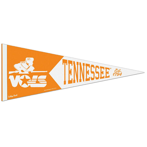 Tennessee Volunteers Retro Logo Premium Pennant Felt Wool NEW!! Free Shipping
