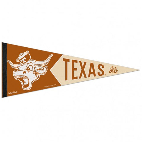 Texas Longhorns Retro Logo Premium Pennant Felt Wool NEW!! Free Shipping