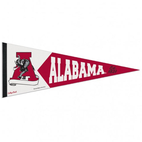Alabama Crimson Tide Retro Logo Premium Pennant Felt Wool NEW!! Free Shipping