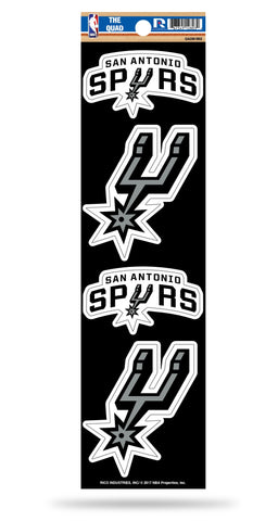 San Antonio Spurs Set of 4 Decals Stickers The Quad by Rico 3x2 Inches Yeti
