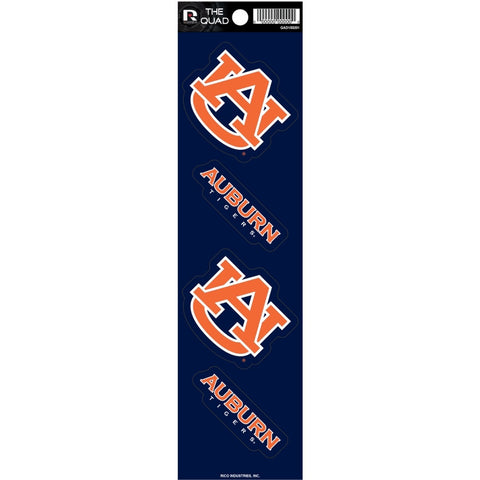 Auburn Tigers Set of 4 Decals Stickers The Quad by Rico 2x2 Inches