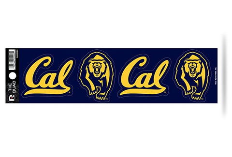 CAL Golden Bears Set of 4 Decals Stickers The Quad by Rico 3x2 Inches