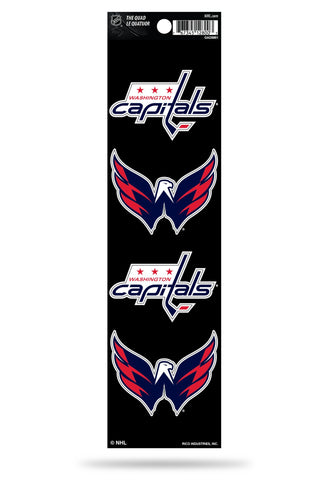 Washington Capitals Set of 4 Decals Stickers The Quad by Rico 2x2 Inches