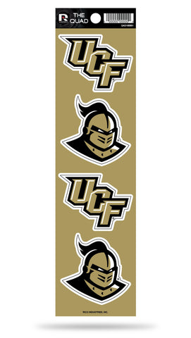 Central Florida Knights Set of 4 Decals Stickers The Quad by Rico 2x2 Inches UCF