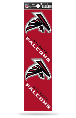 Atlanta Falcons Set of 4 Decals Stickers The Quad by Rico 2x2 Inches