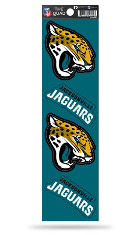 Jacksonville Jaguars Set of 4 Decals Stickers The Quad by Rico 2x3 Inches