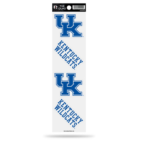 Kentucky Wildcats Set of 4 Decals Stickers The Quad by Rico 2x2 Inches Yeti