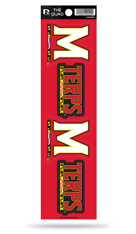 Maryland Terrapins Set of 4 Decals Stickers The Quad by Rico 2x2 Inches