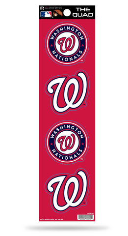 Washington Nationals Set of 4 Decals Stickers The Quad by Rico 2x2 Inches