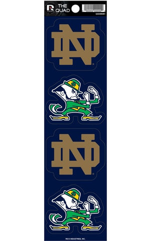 Notre Dame Fighting Irish Set of 4 Decals Stickers The Quad by Rico 2x2 Inches