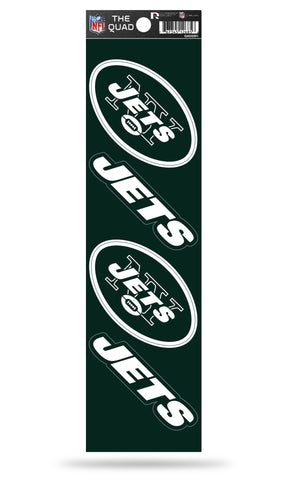 New York Jets Set of 4 Decals Stickers The Quad by Rico 2x2 Inches