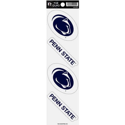 Penn State Nittany Lions Set of 4 Decals Stickers The Quad by Rico 2x2 Inches