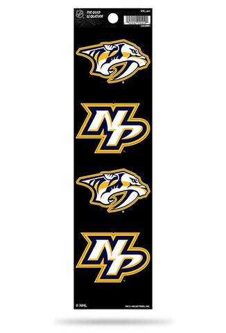 Nashville Predators Set of 4 Decals Stickers The Quad by Rico 2x2 Inches