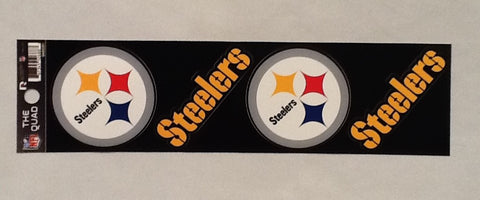 Pittsburgh Steelers Set of 4 Decals Stickers The Quad by Rico 2x2 Inches