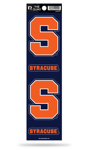 Syracuse Orange Set of 4 Decals Stickers The Quad by Rico 2x2 Inches