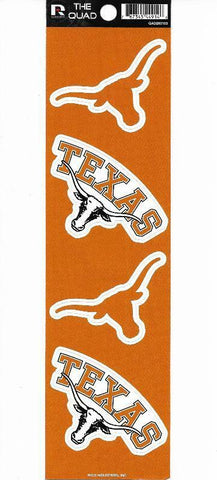 Texas Longhorns Set of 4 Decals Stickers The Quad by Rico 3x2 Inches