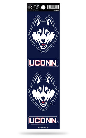 UCONN Huskies Set of 4 Decals Stickers The Quad by Rico 2x2 Inches