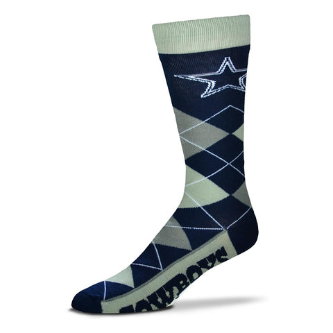 Dallas Cowboys Argyle Socks Crew Length One Size Fits Most NEW!